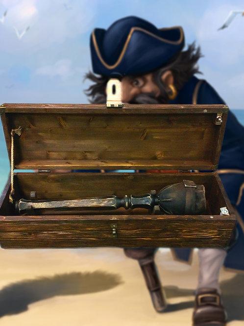 Pirate's leg prop escape room kit