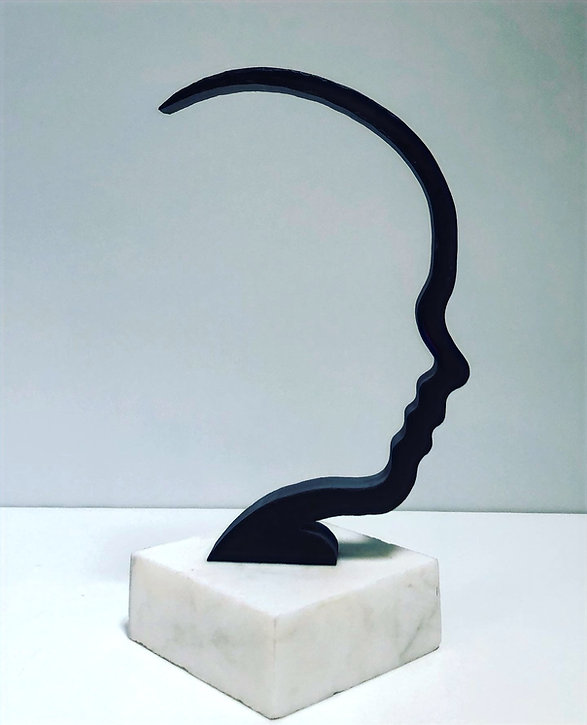 Slate Sculpture Negative Space