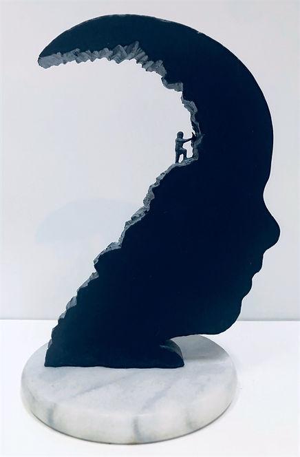 Slate Sculpture Just me Head