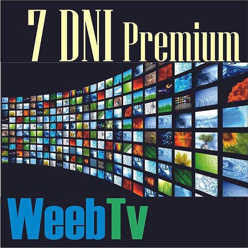 Kod Premium Weeb TV 7 Dni
