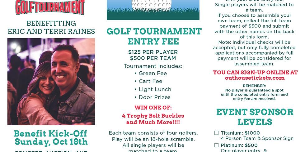 Raising for Raines Golf Tournament (Benefit to pay for Terri Raines Medical Bills)