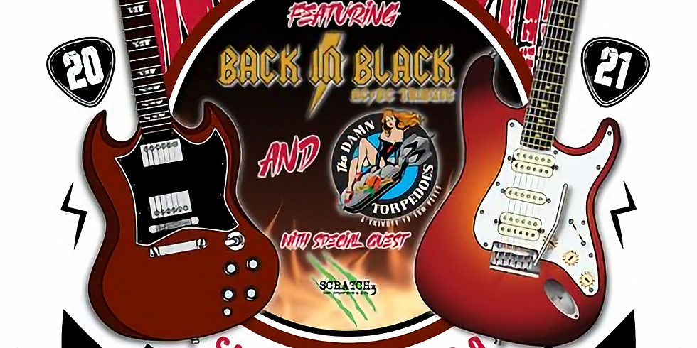 Back in Black (AC/DC Tribute Band), The Damn Torpedos (Tom Petty Tribute Band), and Scratch 3