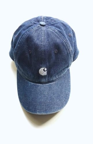e08e37e7c692d5 CARHARTT WIP MAJOR DENIM CAP, BLUE STONE WASHED