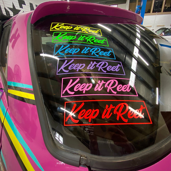 KiR Small Neon Sticker