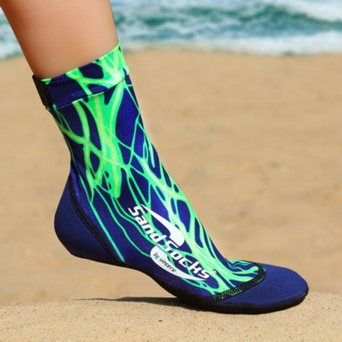 Green Lightning Sand Socks
