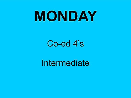 Monday Co-ed 4's Intermediate