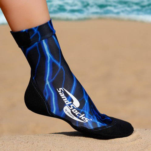 Blue Lightning Sand Socks
