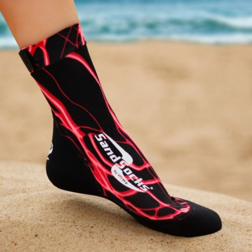 Red Lightning Sand Socks