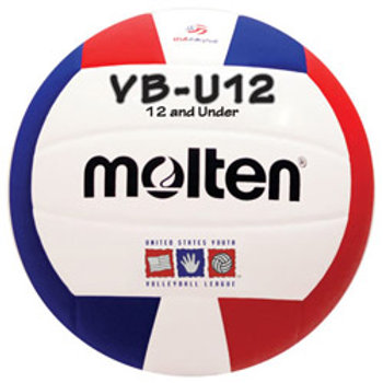 Molten VBU12 Youth Volleyball - Red/White/Blue