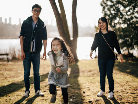 Momo's family photography session at Deer Lake Park, Burnaby