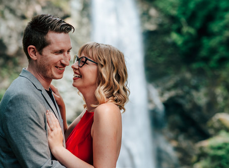 Kelsey & Dom's Waterfall engagement