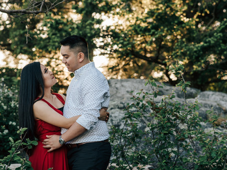 Porteau Cove and Whytecliff Park Engagement Session with Edison & Rose