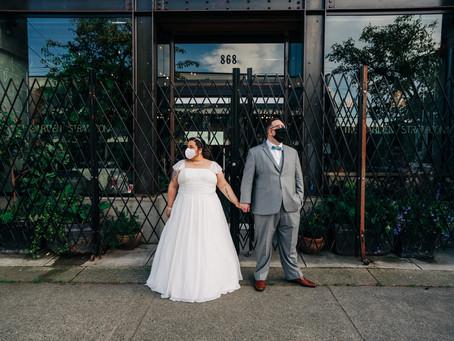 Fun elopement in Gastown, Vancouver