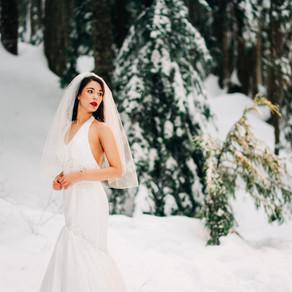 Dreamy Winter Bride at Cypress mountain