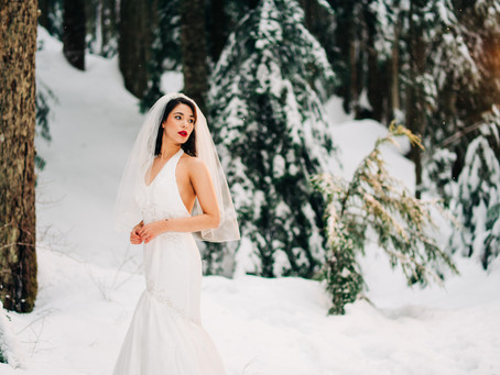Dreamy Winter Bride at Cypress mountain