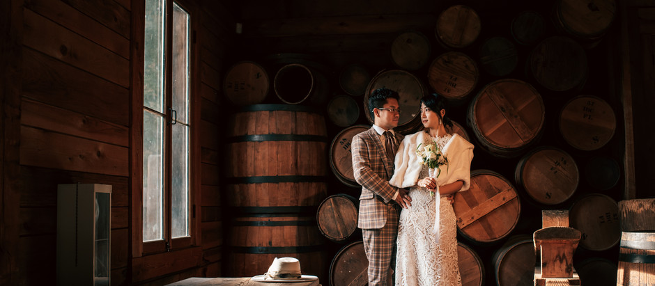 Claire + Cong Western After-Wedding Session at Fort Langley National Historic Site