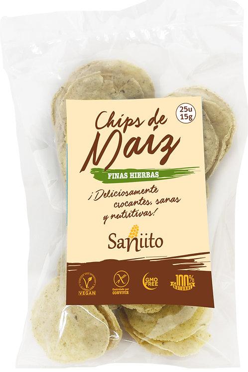 Chips de maíz sabor Finas Hierbas (15 grs. - 25 unidades)