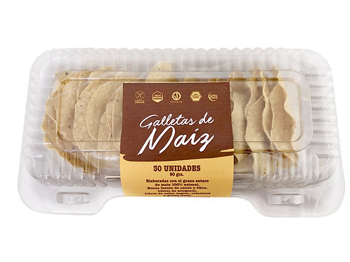 Galleta de maiz redonda - 30 unidades