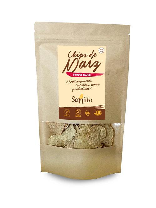 Chip de maiz sabor Frutos Rojos - 30 grs (50 unidades)
