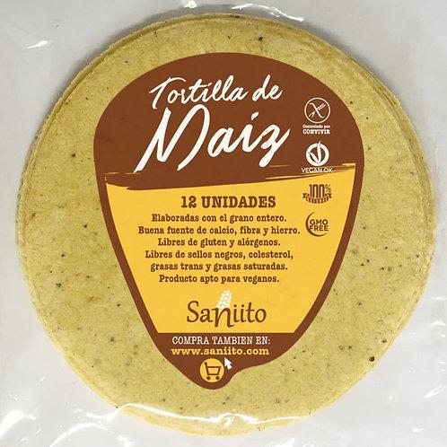 Tortilla de Maíz  para Tacos - 14 cms (12 unidades)