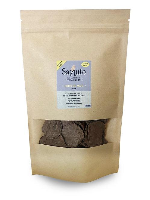 Chip de maiz sabor chocolate cacao - 30 grs (50 unidades)