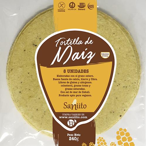Tortilla de Maíz para Fajitas - 17 cms (8 unidades)