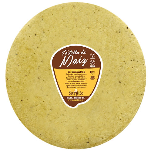 Tortilla de maiz para wrap / burrito - 24 cms (12 unidades)