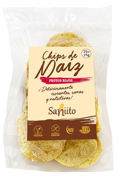 Chip de maiz sabor frutos rojos (15 grs. - 25 unidades)