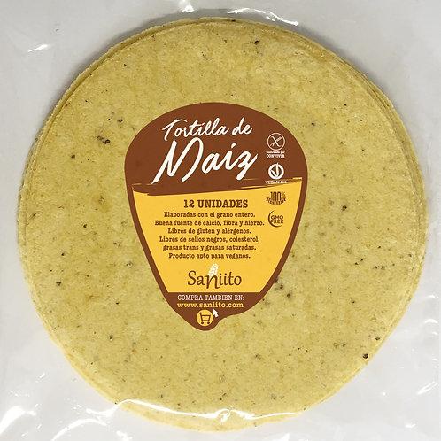 Tortilla de Maíz para Fajitas - 21 cms (12 unidades)