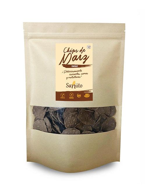 Chip de maiz sabor chocolate cacao - 80 grs (130 unidades)