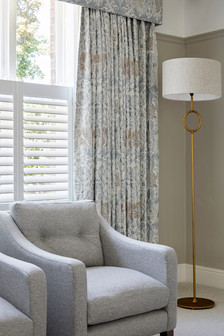 Designer Drawing Room Curtains - Fable Interiors