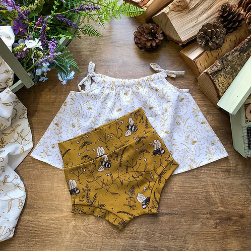 Honey Hunting Cotton Top & Bummie Set