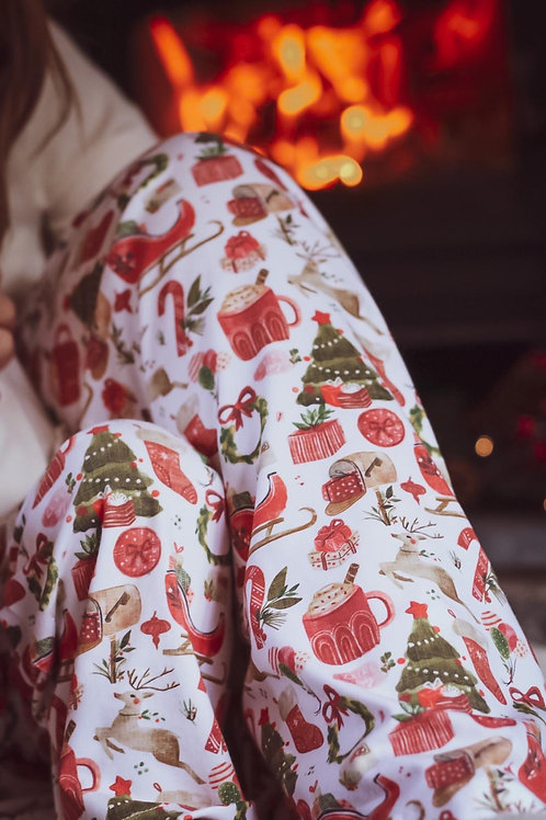 Adult Wide Leg Bottoms - Merry & Bright