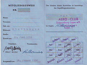 Abb. 14: Mitgliederausweis des DAeC