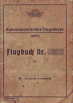 Abb. 1: Erstes Flugbuch