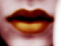 Pop-art-style woman's lips