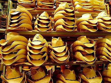Many, many cowboy hats