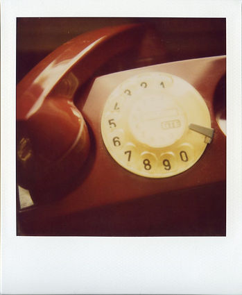 Stylized dial-telephone