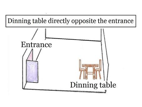 開門見膳 Dinning table directly opposite the entrance.