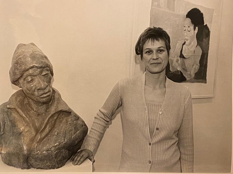 Susann Allgaier in der Ausstellung Bilder und Objekte