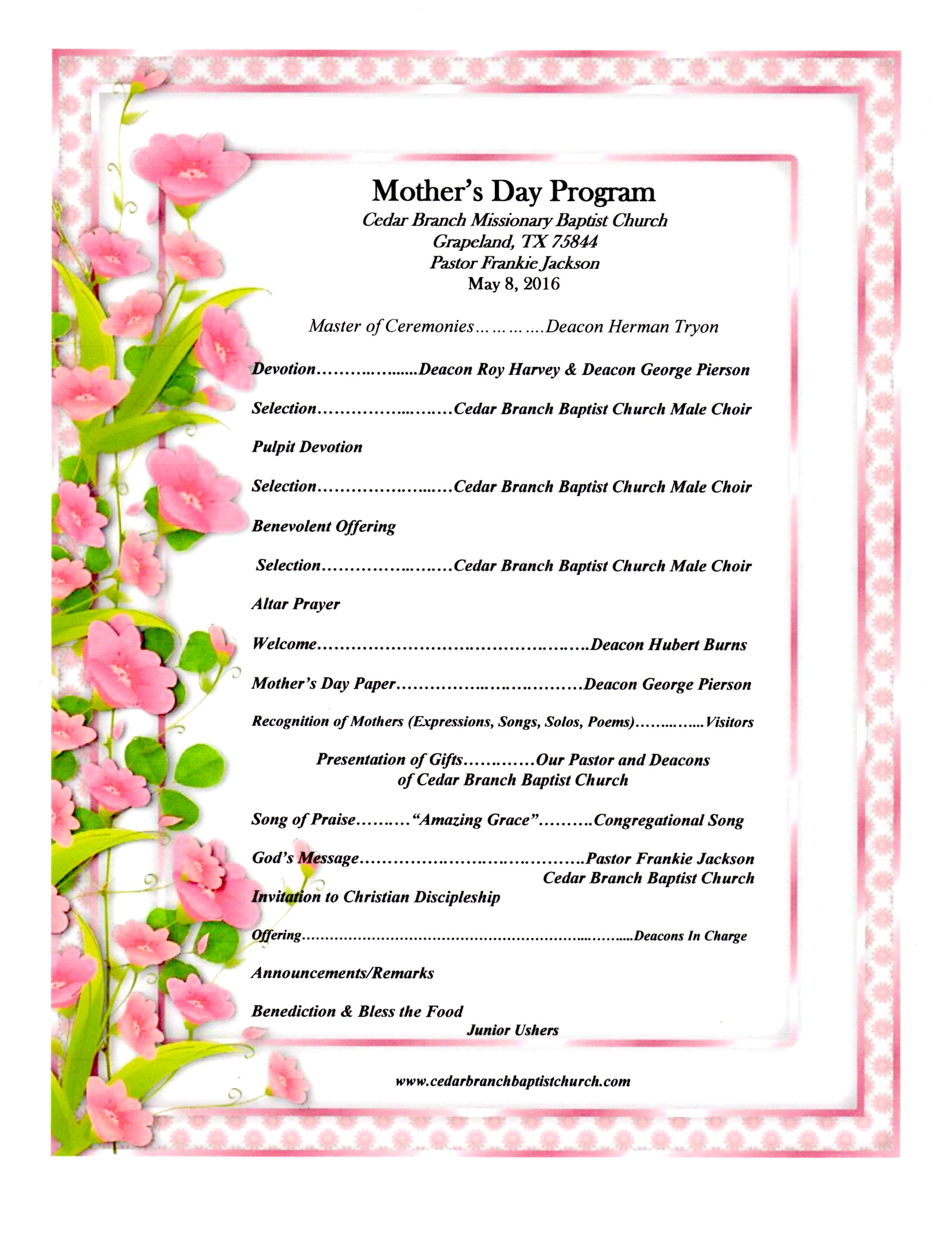 Mother's Day 5-8-2016