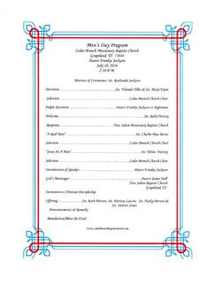 Men's Day Program 7-10-2016