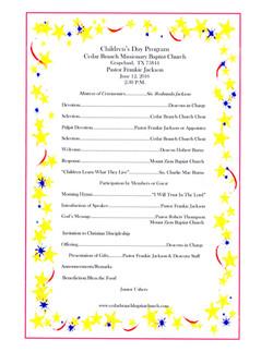 Children's Day Program 12-6-2016