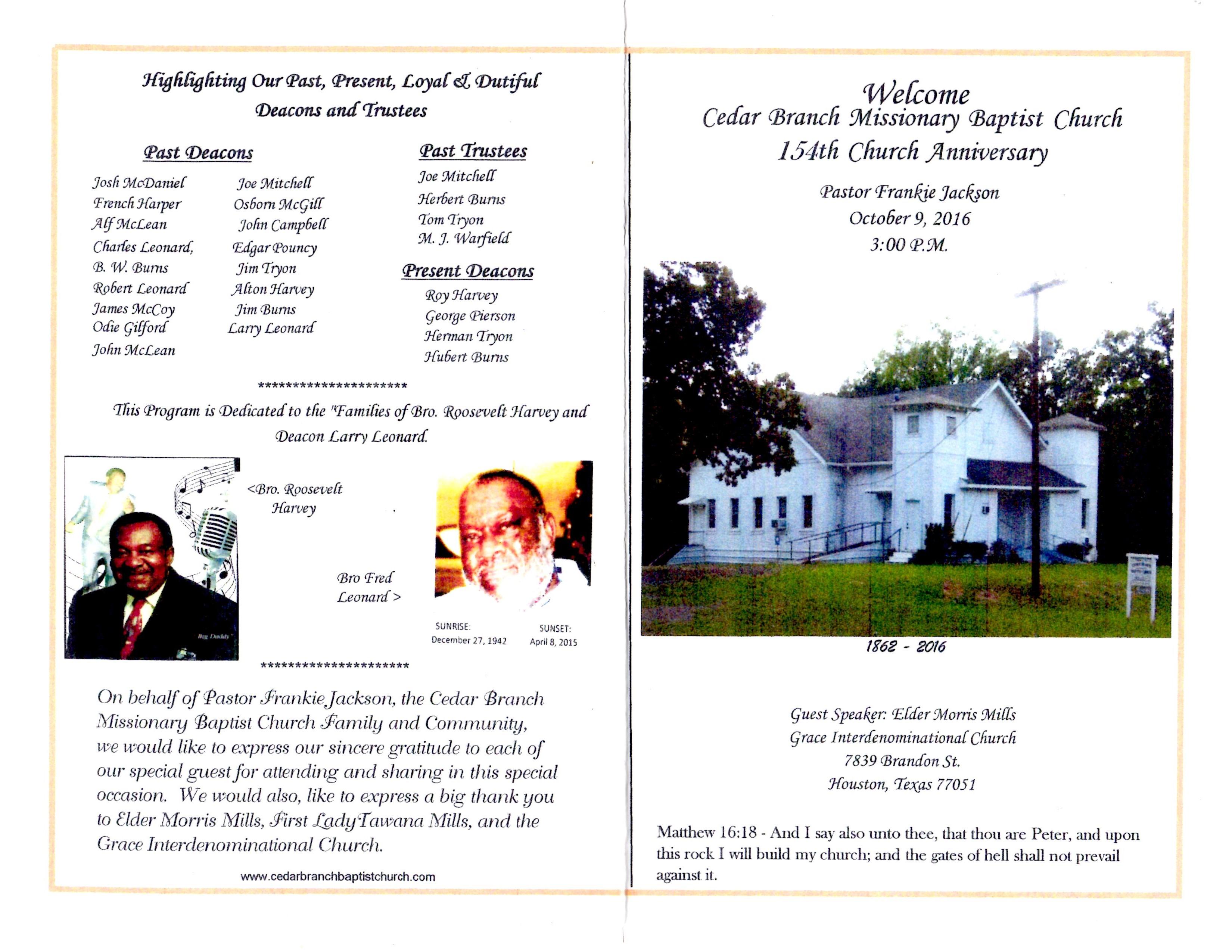 154th Church Anniversary 10-9-2016 (1)