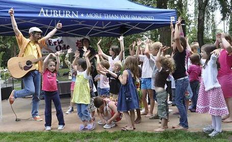outdoor children's community concert