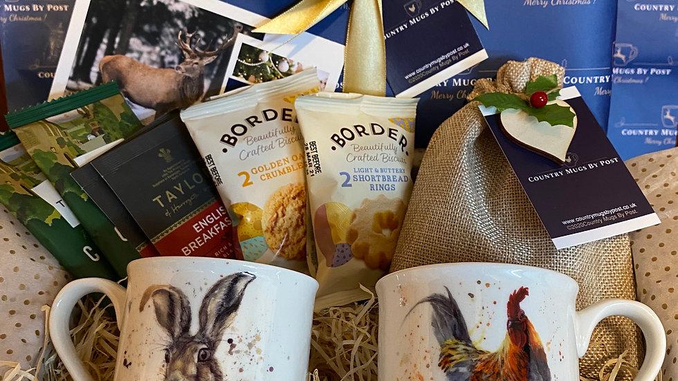 'Hugh Hare & Rooster' Mug Gift Hamper
