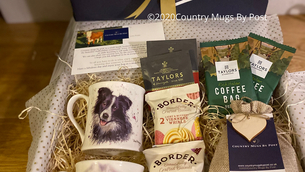'Carson Collie & Shelia Sheep' Mug Gift Hamper