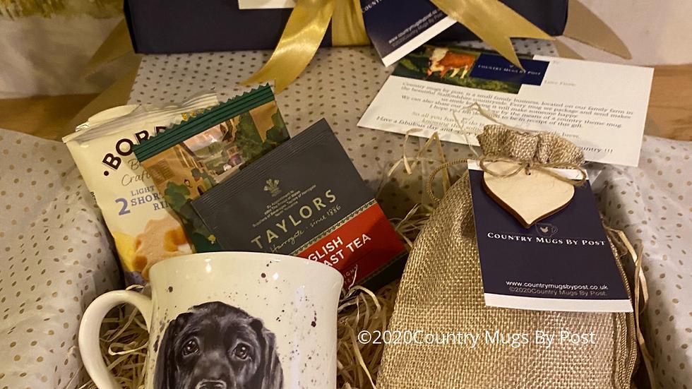 'Black Labrador' Mug Gift Hamper