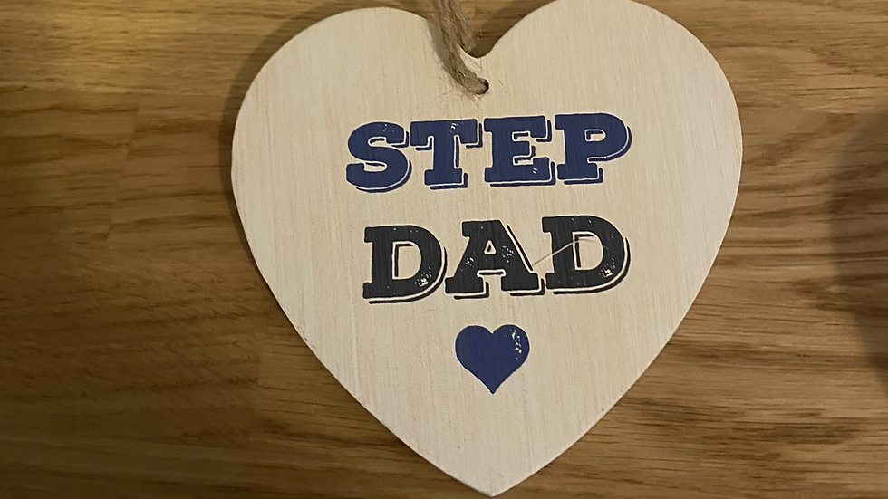 Step Dad Wooden Heart