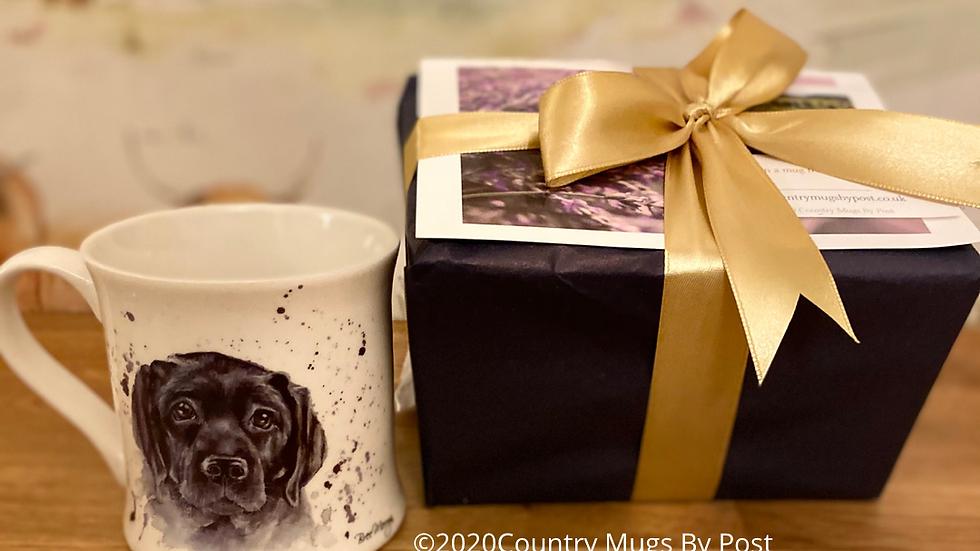 'Luna Black Labrador'  Single Mug Gift